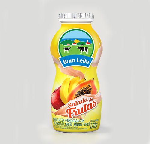 Bebida Láctea Bom Leite Salada de Frutas 170g