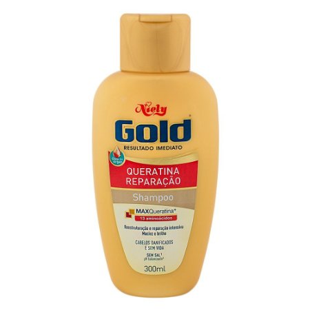 Shampoo Niely Gold Queratina Reparação 300ml