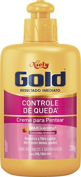 Creme Para Pentear Niely Gold Controle De Queda 280g