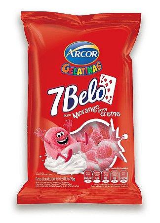 Gelatina 7Belo Morango com Creme 70g