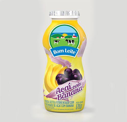 Bebida Láctea Bom Leite Açaí com Banana 170g