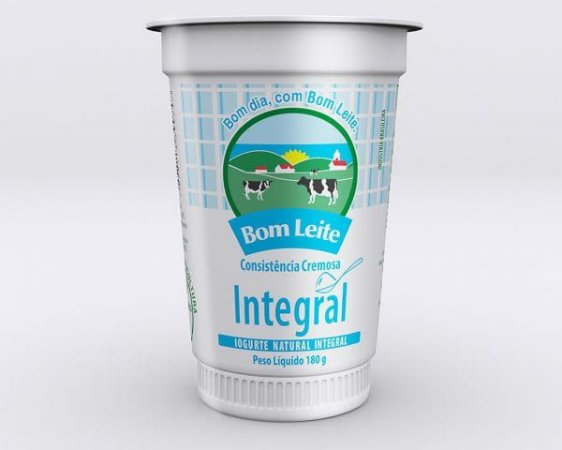 Iogurte Bom Leite Natural Integral 180g