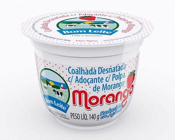 Coalhada Bom Leite Morango Ligth 140g