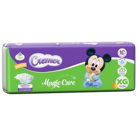 Fralda Cremer Disney Baby Magic Care  XG com 28 Unidades