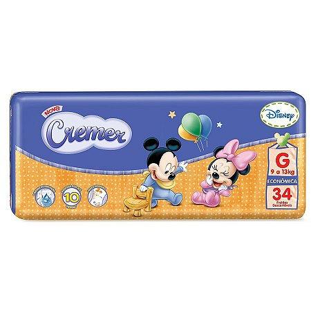 Fraldas Cremer Disney Baby Econômica G 34 Unidades