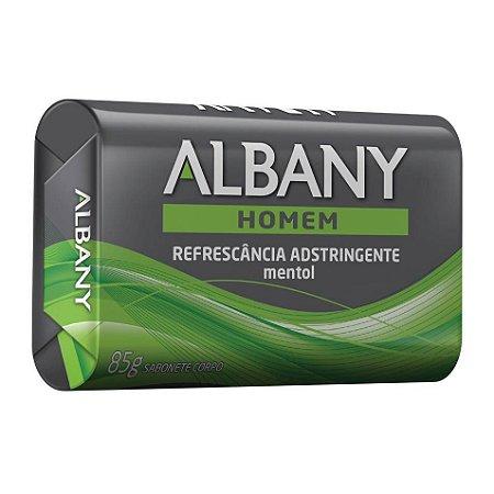 Sabonete em barra Albany Homem Refrescância Adstringente com mentol 85g