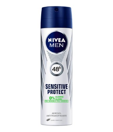 Desodorante Nivea Men Sensitive Protect Aerosol 48h 150ml