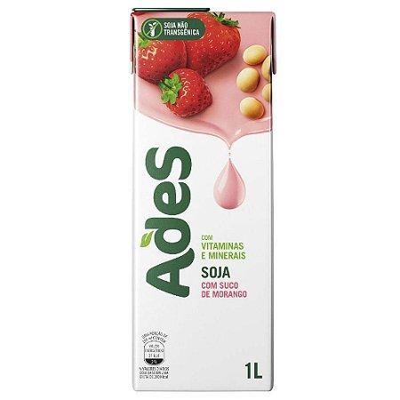 Bebida de Soja Ades Morango Tetra Pak 1l