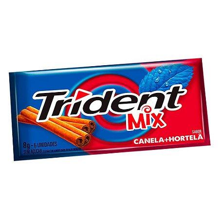 Chiclete Trident Mix Canela e Hortelã com 8g com 5 Unidades