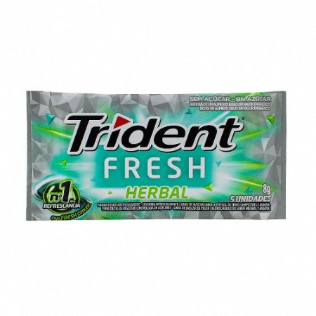 Chiclete Trident Fresh Herbal 8g com 5 Unidades