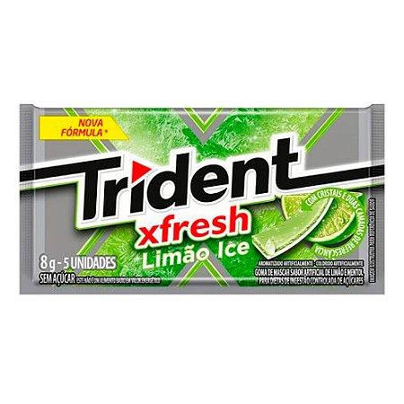 Chiclete Trident XFresh Limão Ice Sem Açúcar 8g com 5 Unidades