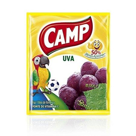 Refresco em Pó sabor Uva Camp 15g