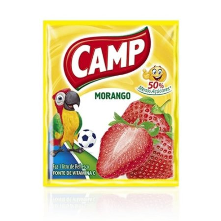 Refresco em Pó sabor Morango Camp 15g
