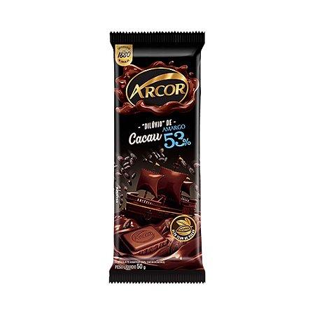 Chocolate Arcor Amargo 53% de Cacau 50g