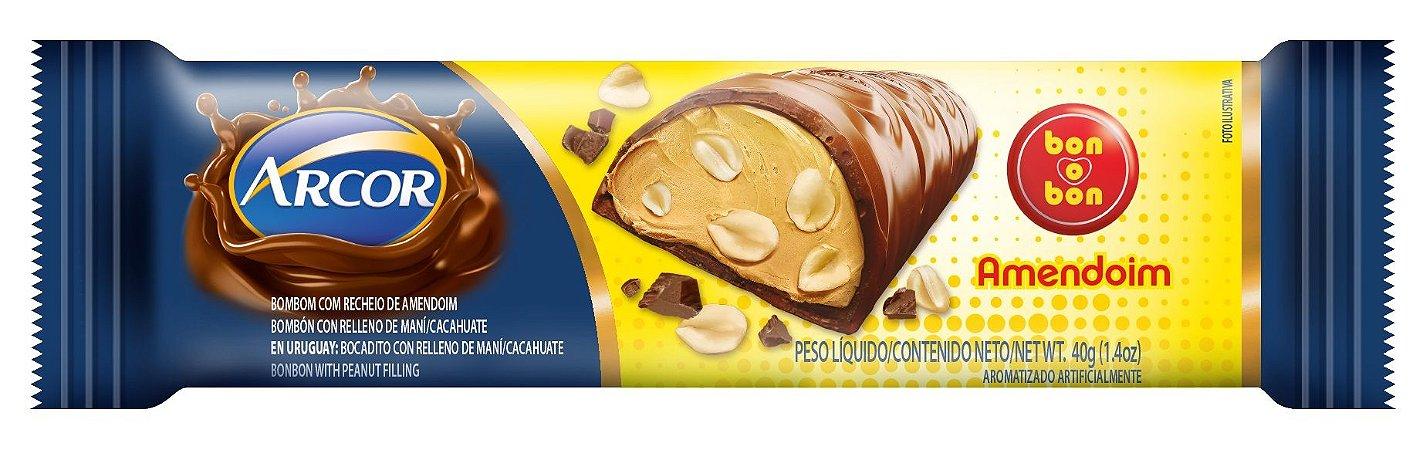 Chocolate Arcor Recheado Amendoin 40g