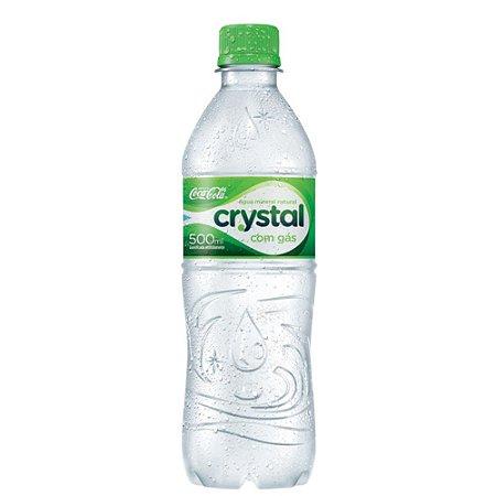 Água Mineral com Gás CRYSTAL Garrafa 500ml