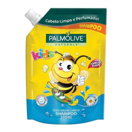 Shampoo Palmolive Naturals Kids Refil Todos os Tipos de Cabelos 200ml