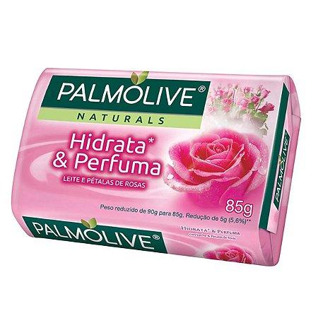 Sabonete Palmolive Naturals Hidrata E Perfuma Leite e Pétalas de Rosas 85g