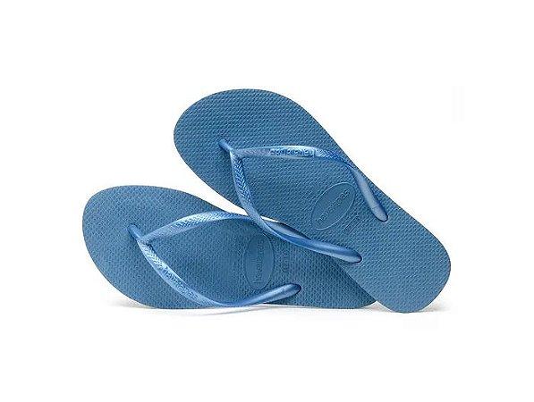 Sandália Havaianas Slim Azul Aço