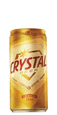 Cerveja Crystal Pilsen Lata 269ml