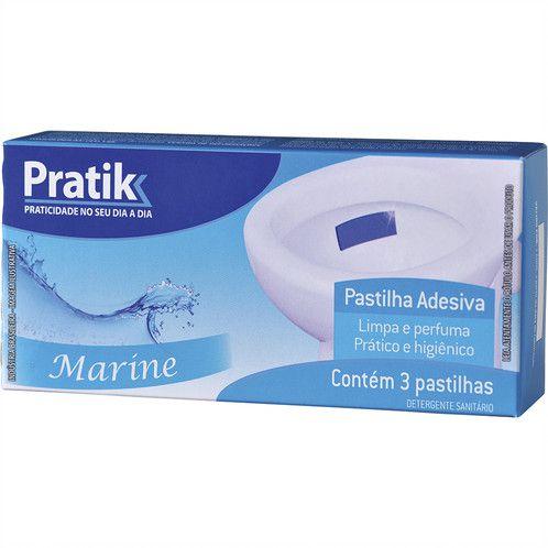 Pastilha Sanitária Adesiva Marine Pratik 3 Unidades