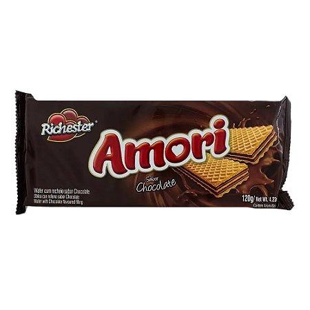 Biscoito Wafer Richester Amori Sabor Chocolate 130g