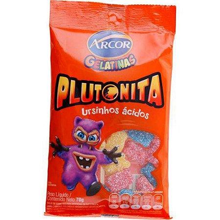 Bala de Gelatina Arcor Plutonita Ursinhos ácidos 70g