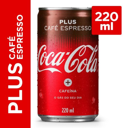 Refrigerante COCA COLA Plus Café Espresso Lata 220ml