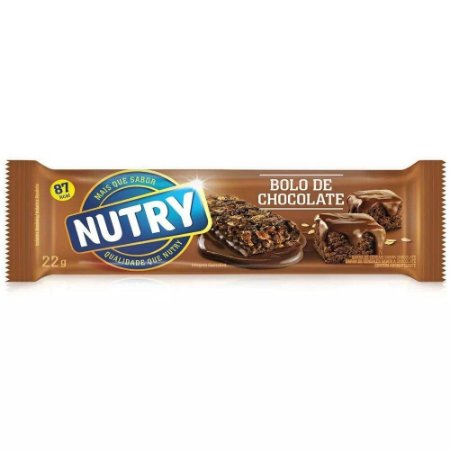Barra de Cereal Nutry Bolo de Chocolate 22g
