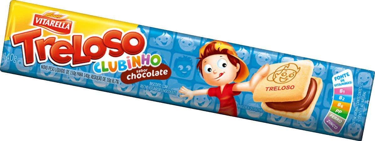 Biscoito Recheado chocolate Treloso Clubinho 140g