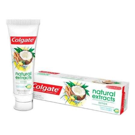 Creme Dental Colgate Natural Extracts Detox Coco e Gengibre 90g