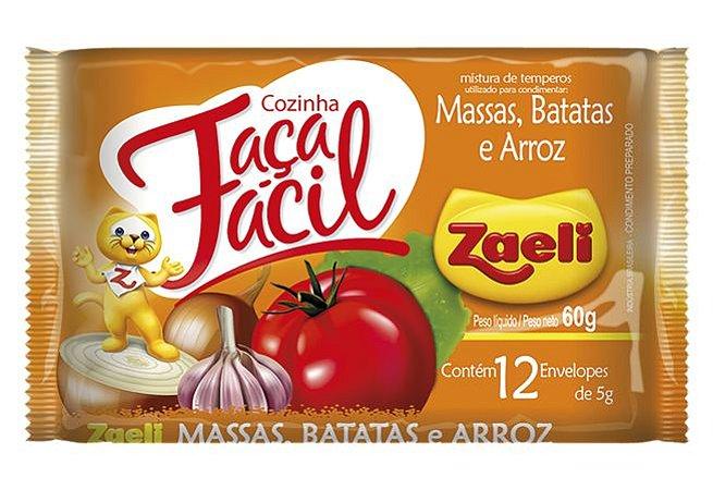 Tempero Faça Fácil Massas Batatas Arroz Zaeli 60g Pacote