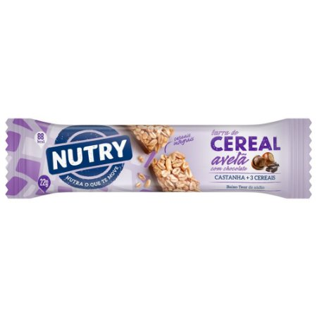 Barra de Cereal Nutry Avelã com Chocolate 22g