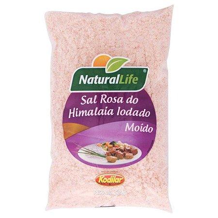 Sal Rosa do Himalaia Natural Life Iodado Moído 500g