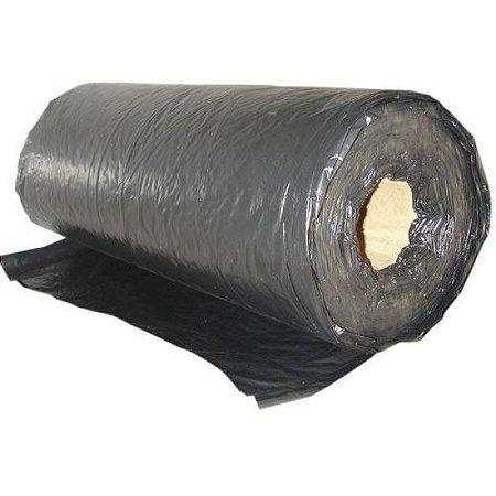 Lona Plástica em Bobina Preta Fina 4x100 c/10 KG