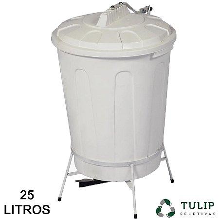 1fffd96809c74 Lixeira Pedal 25 litros Tulip - Titapel - Embalagens e Miudesas