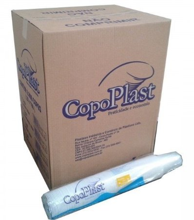 Copo Plast 80ml Translúcido C/100