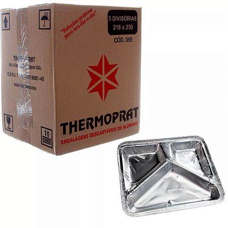 Embalagem Ret. de Alumínio Thermoprat C/3 Divisórias