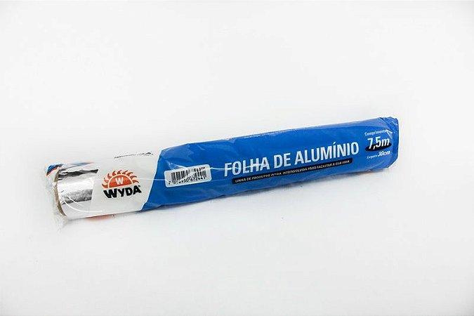 Papel Aluminio Wyda 7,5x45 Rolo UNI
