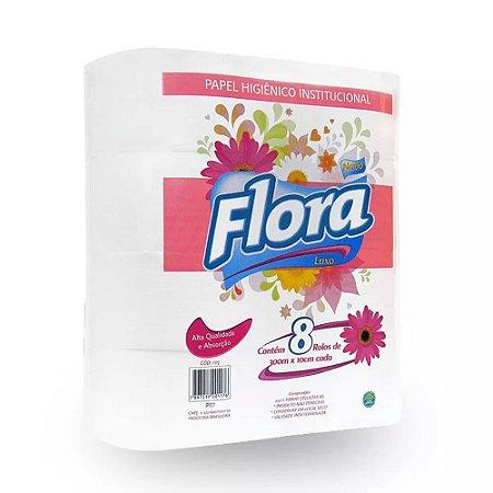 Papel Hig. Rolão Flora Luxo 8x300m