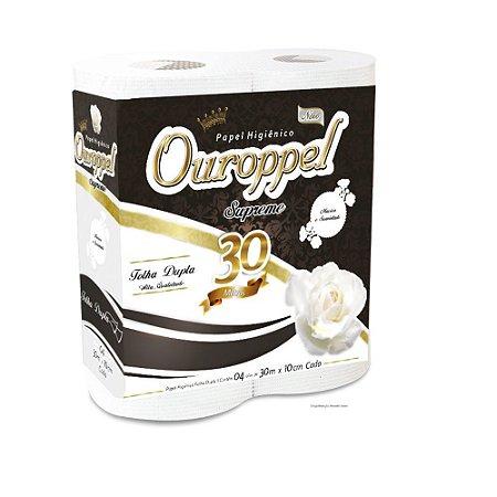 Papel Higiênico Ouroppel Supreme 16x4 30mts Folhas Dupla