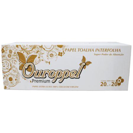 Papel Interfolha Ouroppel Supreme Extra Luxo Folha Dupla 22,5cm