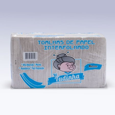 Papel Interfolha Vó Tudinha Cinza 20cmx22cm 1000 folhas