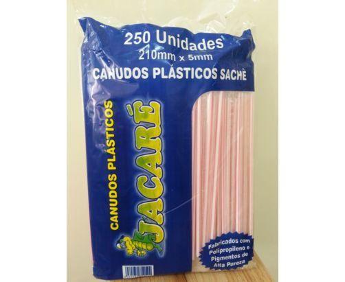Canudo Jacaré Refrigerante Embalado C/250 Uni