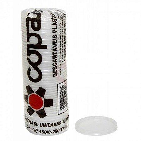 Tampa Copaza p/ Copo C/50 Com Furo - Tamanhos