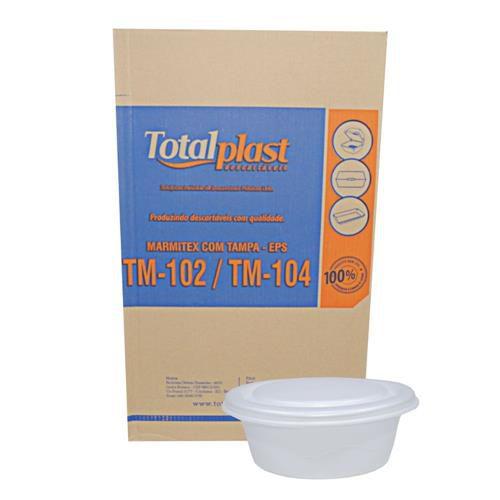 Marmitex Isopor Total Plast n°8 (R-02) CX 100