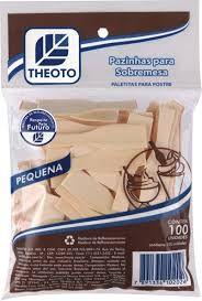 Pazinha P/ Sorvete Madeira Theoto C/100