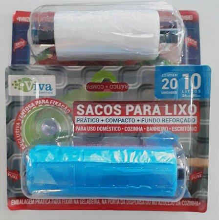 Saco de Lixo 10Lts  Uso Doméstico C/20 Sacos