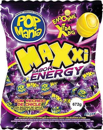 Pirulito Pop Mania Maxxi Energético 24x28gr
