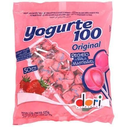 Pirulito Yogurte100 Morango Recheado 525gr